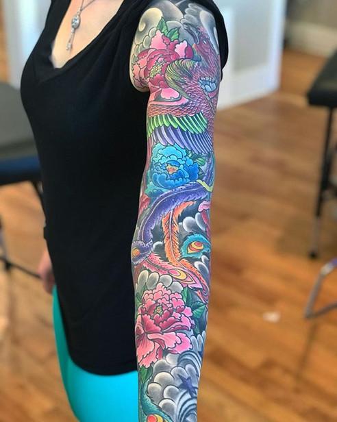 Healed phoenix sleeve thanks again Aisli