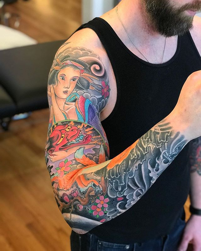 Finished this sleeve today grateful for
