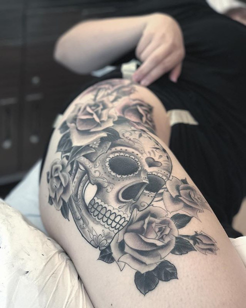 Sugar skull roses thanks again Sarah _th