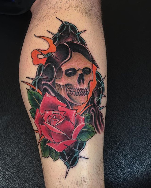 Got to tattoo my man Anthony today thank