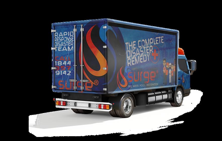 Surge Restoration Company Rapid Response Truck