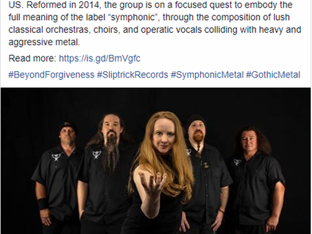 Beyond Forgiveness is now signed with Sliptrick Records