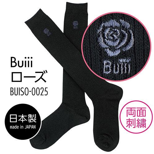 Buiii ハイソックス黒(Buiiiローズ)BUISO-0025