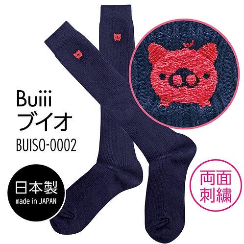 Buiii ハイソックス紺(Buiiiブイオ)BUISO-0002
