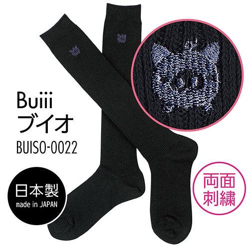 Buiii ハイソックス黒(Buiiiブイオ)BUISO-0022