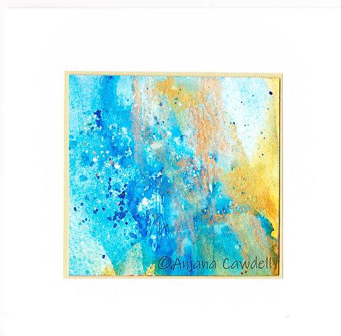 Handmade Abstract Greetings Card ACEO