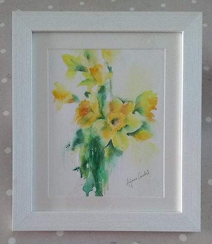 Daffodils - original framed painting