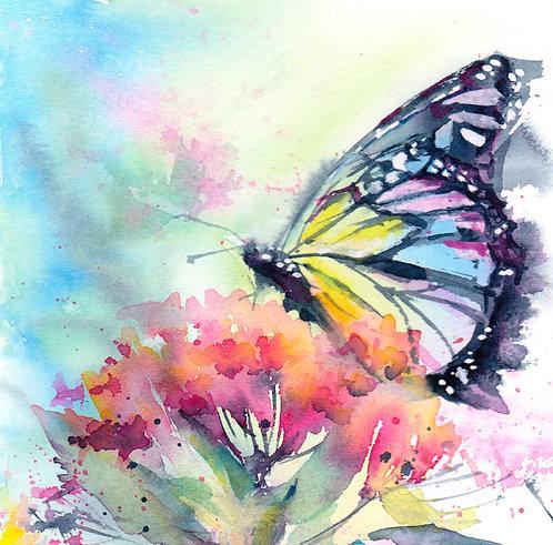 Rainbow Monarch, Limited Edition Giclée Print