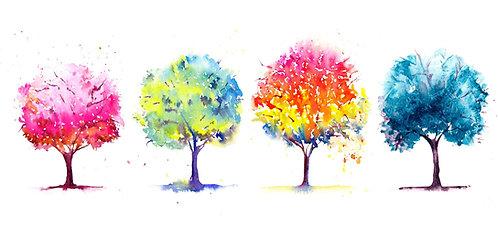 Four Seasons watercolour, fine art gicliée print