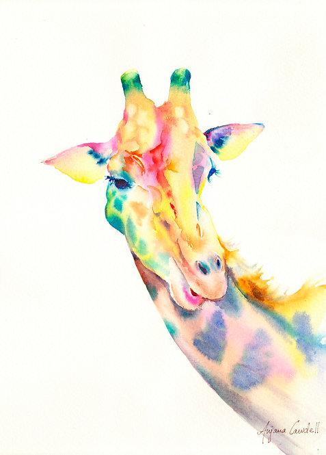 Giraffe, Original Watercolour Painting