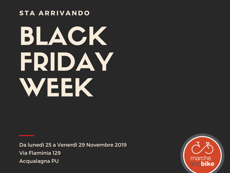 Arriva il BLACK FRIDAY WEEK