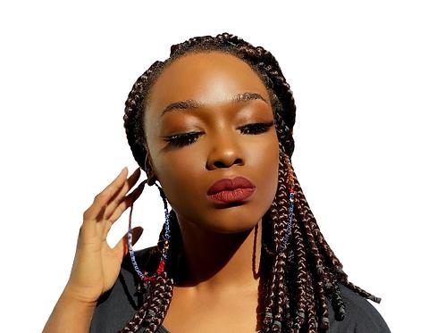 African Print Hoop Earrings