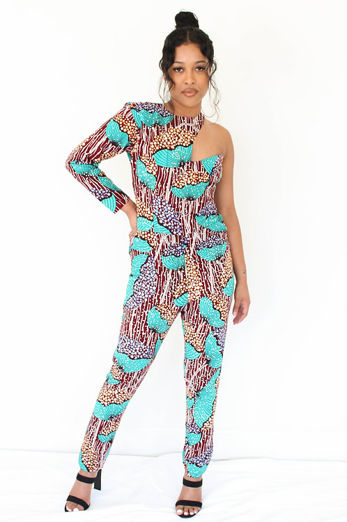 AFRICAN PRINT JUMPSUIT- I'YORE