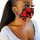 Thumbnail: African Print Mask & Earring Set
