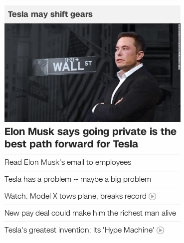 Tesla may go private