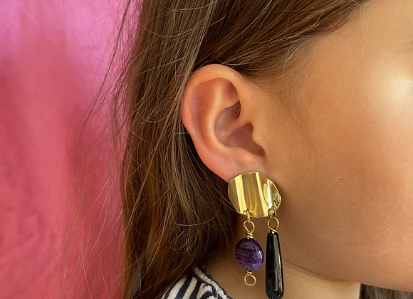 Agat statement earring #2 one-of-a-kind