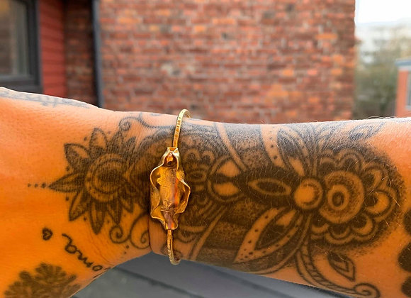 Pussy bracelet -brass