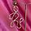 Thumbnail: Asymmetric brass earring #4