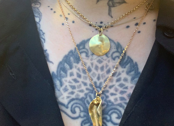 Golden pussy necklace