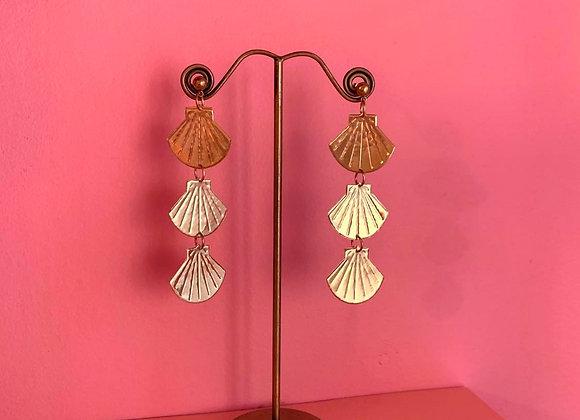 Tripple beach baby earrings