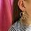 Thumbnail: Asymmetric brass earring #3