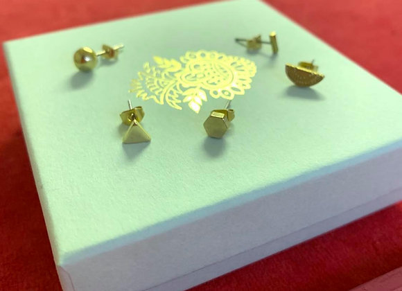 Mini brass earrings - mix and match