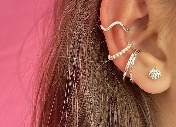Sterling silver ear-cuffs
