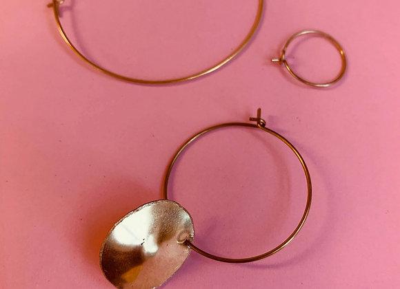 Golden nipple earring