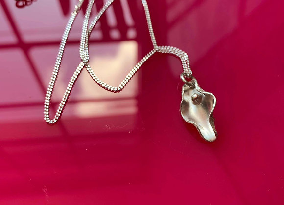 Mini pussy necklace - sterling silver