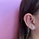 Thumbnail: Mini Venus ear-cuff - sterling silver