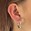 Thumbnail: Sterling silver hoops