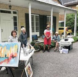 Peinture en direct à la Maison Henry-Stuart, Québec