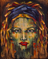 La Dame de l'eau, huile sur toile, 20 x1