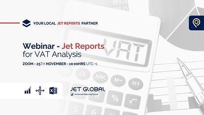 Jet Reports for VAT Analysis
