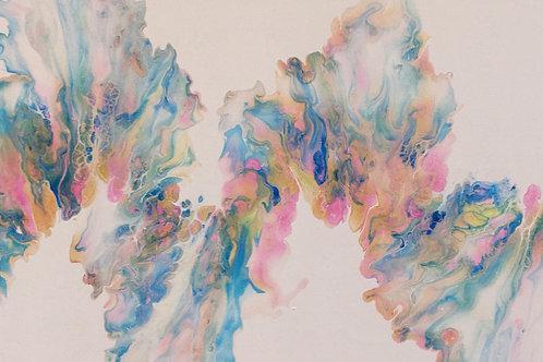 Fluid Art Canvas 800 x 300 x 20mm
