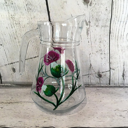 Hand Painted 1.4l Thistle Jug