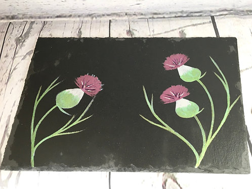 Set of 2 Hand Painted Slate Place mats.