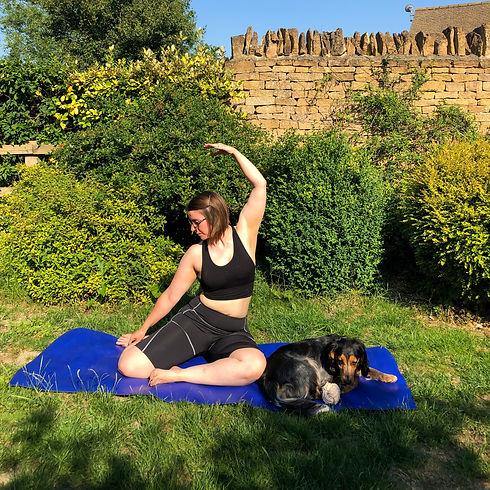 Jade & layla doing yoga