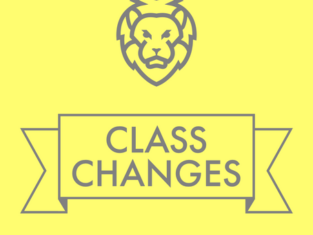 Tuesday Venue & Schedule Changes
