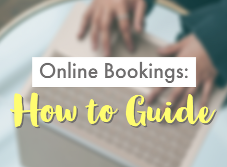 Online bookings: How to guide
