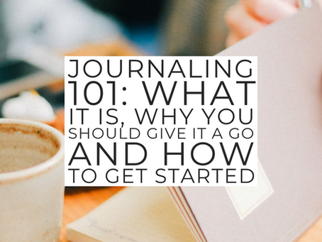 Journaling 101: Introduction to journaling
