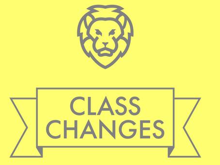Festive Class Changes