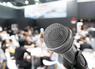 Микрофон крупным планом