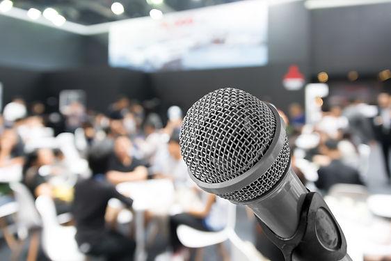 Gros plan microphone