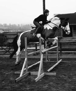 Faith jump B&White