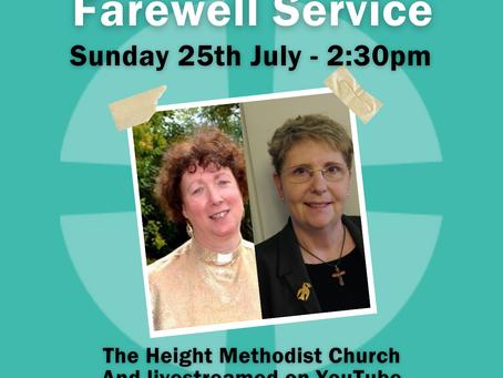 Sunday 25th July 2021 - Farewell Service