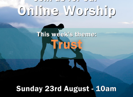 Sunday 23rd August 2020 - Trust