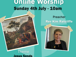 Sunday 4th July 2021 - Jesus Sends The Disciples Out