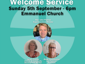 Sunday 5th September 2021 - Welcome Service