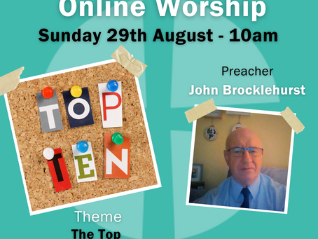 Sunday 29th August 2021 - The Top Ten